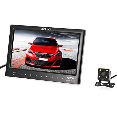 HITSAN INCORPORATION KELIMA 7 Inch Bluetooth MP5 Car Display + Four LED Rear View Camera with Reversing Ruler