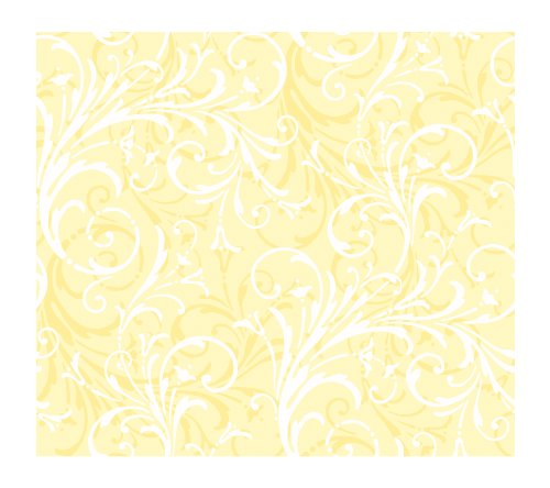 York Wallcoverings KD1728SMP Just Kids Layered Scroll 8-Inch x 10-Inch Wallpaper Memo Sample, Yellows