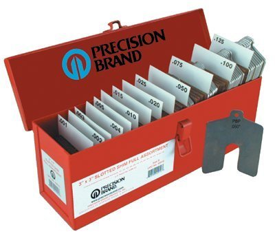 PRECISION BRAND - SIZE A 2X2 ASSORTED SLOTTED SHIMS 20PC - 605-42900 by Precision Brand