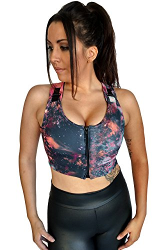 - Brilliant Contours Post Surgical Comfort Compression Sports Bra Galaxy Goddess Butterfly - L, Purple