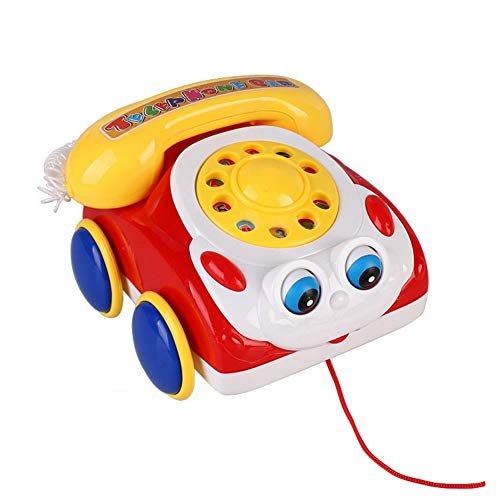 Novobey Colorful Chatter Phone Toy Classic Music Telephone for Baby ( Random Color)