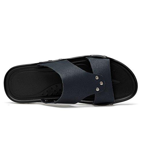 Cricket Blu Fashion Morbido Slip Piatto da da Slipper Traspirante on e Tacco Uomo Scarpe 7nTHUOnq