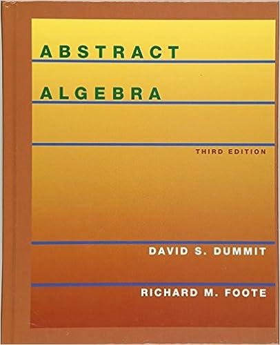 Abstract Algebra 3rd Edition David S Dummit Richard M