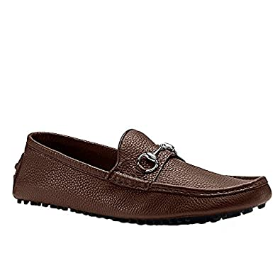 Amazon.com: Gucci Men's Pebbled Leather Horsebit Driver, Brown 236936