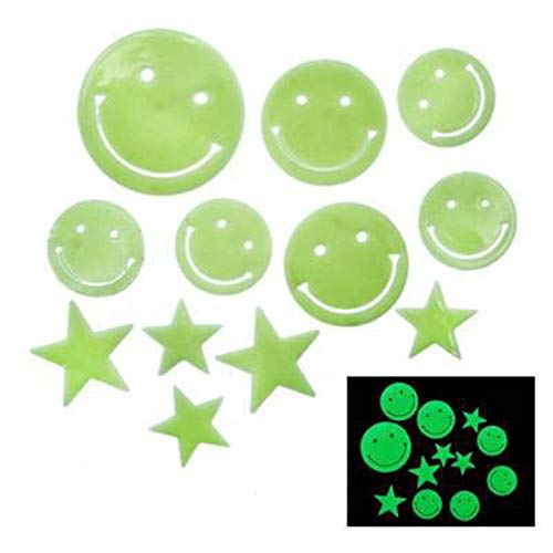 Luminous Stickers Plastic 3D Stars Glow in The Dark Fluorescent Wall Home Accessories Decorative murals ()