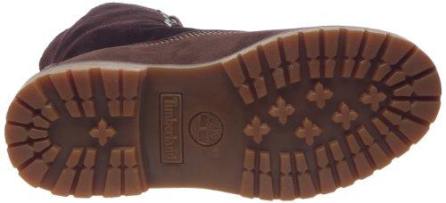 Donna Shearling braun Timberland Marrone Boot Down Stivali Fold Authentics 74Fzwqv