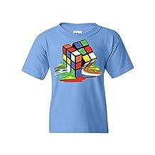 Melting Rubik's Cube Youth T-Shirt Funny Sheldon Geek TV Show Tee
