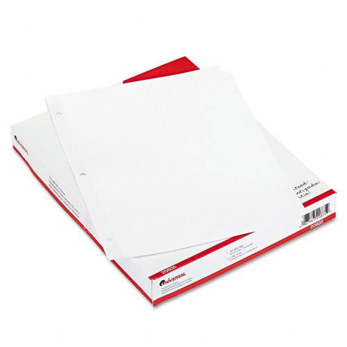 Universal : Economy Tab Dividers, Five-Tab, Letter, White, 36 Sets per Box -:- Sold as 2 Packs of - 36 - / - Total of 72 - White Box Tab