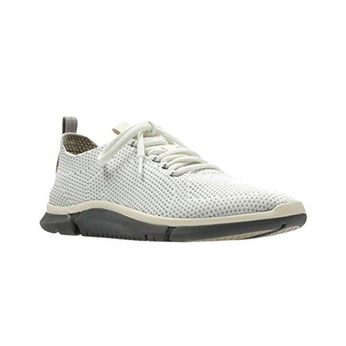 Clarks Mens Triken Run Sneaker Bianco
