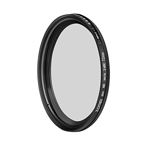 72mm Fader ND Filter Neutral Density ND2 to ND400 - 7