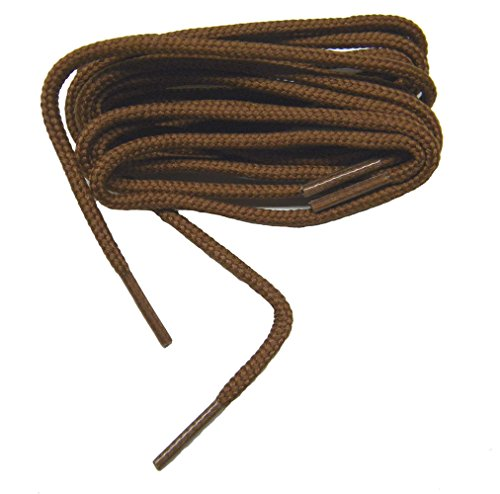 Thin Golf Shoe - proGOLFER(tm) Casual Oxford 2mm Round Golf Laces Shoelaces Shoestrings - (2 Pair Pack) (27 inch 69 cm, Rust Brick)