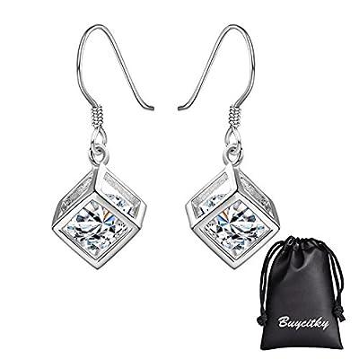 Minimalist Sterling Silver Plated Drop Dangle Earrings Bar Earrings Line Simplify Earrings