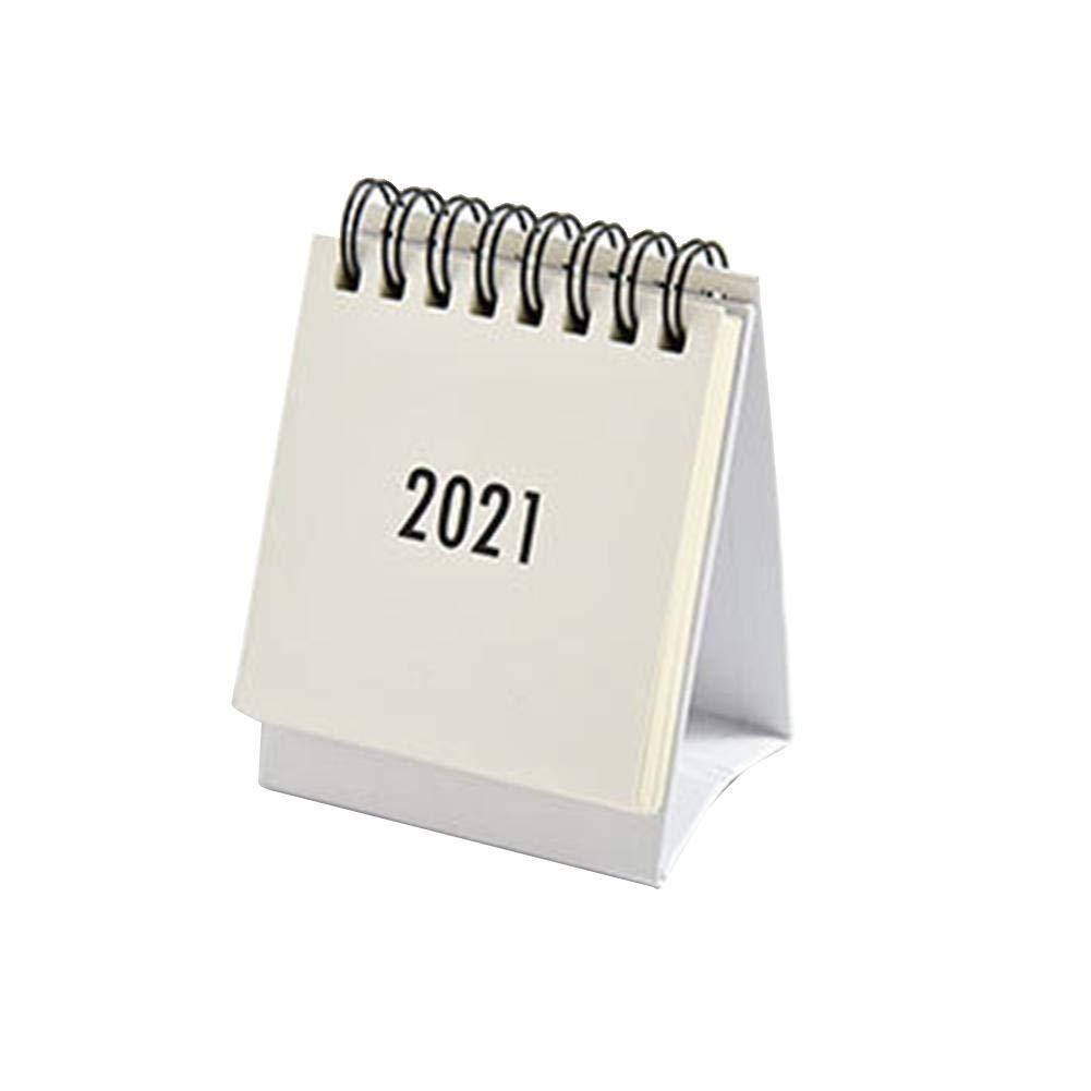 2021 Desk Calendar, Standing Flip Desktop Calendar 2020-2021 with Plastic Cover, Monthly Calender Mini Portable 2021 Year Calender for Organizing Planning