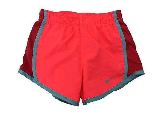 NIKE Girls' Dry Tempo Running Shorts (Hot Pinch(327358-A5C)/Blue, 4)