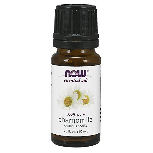 Now Essential Oils, Chamomile Oil, Delightful Aromatherapy Scent, Steam Distilled, 100% Pure, Vegan, 10-ml