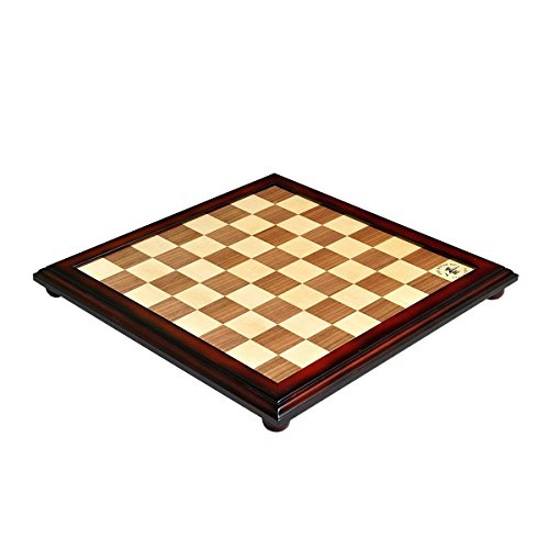The House of Staunton Walnut and Maple Classic Traditional Chess Board - 1.875