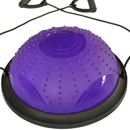 高級ブランド ストラップ Purple、弾性抵抗バンド&スライドディスク付きヨガハーフバランスボール|アンチスリップ、耐久性&ポータブル|コアトレーニング、ヨガ、ピラティス用 Purple B07R5R6194 Purple Purple, インテリアショップ ネオライフ:aacd74cc --- arianechie.dominiotemporario.com
