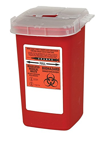 Global Sharps Container Biohazard Needle Disposal Container - 1 Quart (1)
