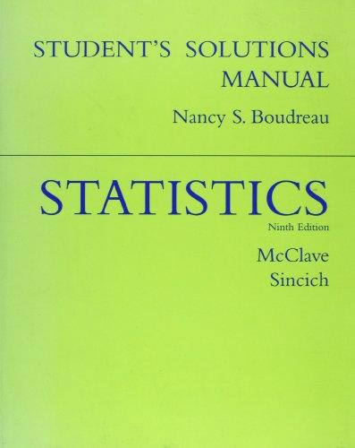 Statistics, Ninth Edition (Student Solutions Manual)