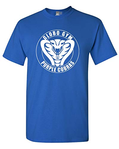 - Globo Gym Cobra Funny Parody Adult DT T-Shirt Tee (X Large, Royal Blue)