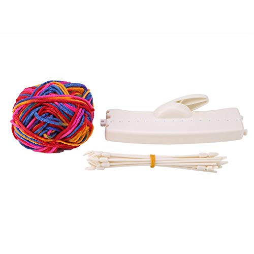 Scarf Knitting Machine Manual DIY Hat Scarves Weaver Knitter Children Gift Knitting Weaver Set Knitter Manual