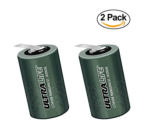 Price comparison product image Ultralife U10014 (UHR-CR34610) Non-rechargeable LiMnO2 D Cell Battery w / End Caps & Re-settable Fuse