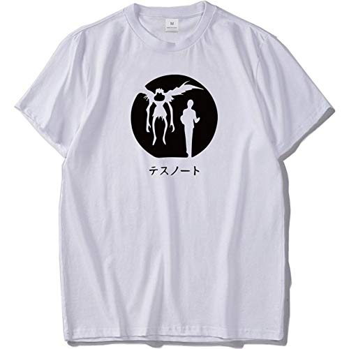 T-Shirts Death Note Men's Hip Hop Outfit Cool Tank Tee Casual (Color : White, Size : XL)