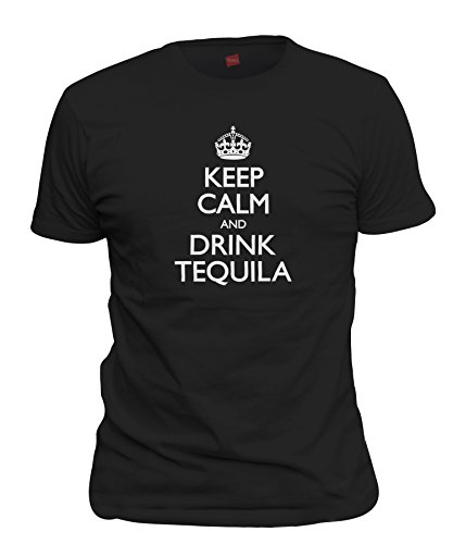 Calm And Drink Tequila T-Shirt, Black Large ()