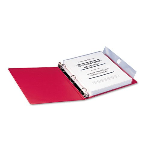 (Smead : Poly Ring Binder Pockets, 8-1/2 x 11, Clear, Three per Pack -:- Sold as 2 Packs of - 3 - / - Total of 6 Each)