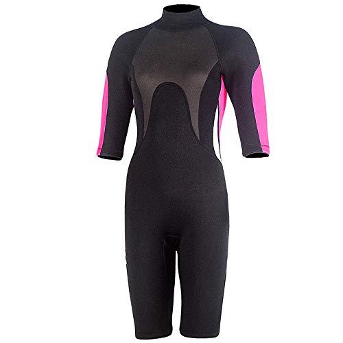 (Nataly Osmann 2.5mm Neoprene Shorty Wetsuit for Women Men Short Sleeve Springsuit for Surfing Scuba Diving Swimming Kayaking Snorkeling (Pink Women, M))