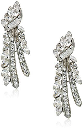 Ben Amun Dangling Earrings - Ben-Amun Jewelry Deco Crystal Branch Post Earrings for Bridal Wedding Anniversary