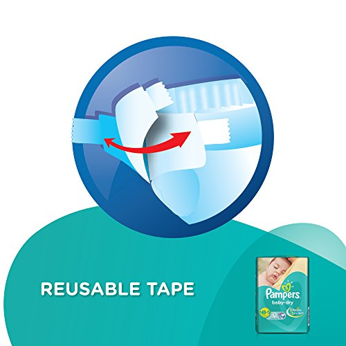 Pampers Baby Dry Taped Diapers New Born To Small 11 Pieces at best price