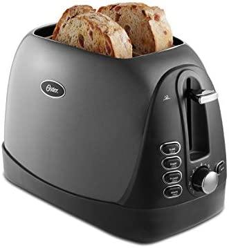 Oster 2 Slice, Bread, Bagel Toaster, Metallic Grey