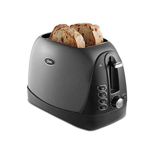 Oster 2 Slice, Bread, Bagel Toaster, Metallic Grey Salted Salad