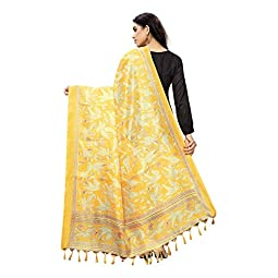 Anni Designer Women's Yellow Color Silk Dupatta Chunni