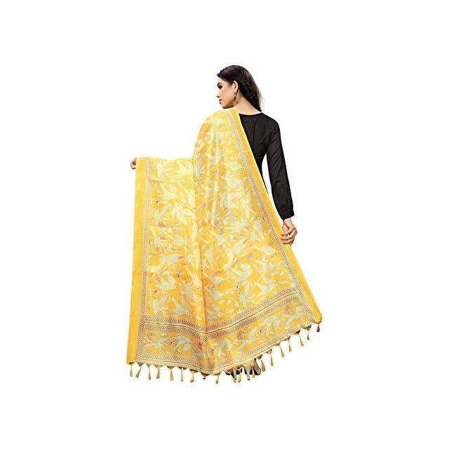 Yellow color silk Dupatta