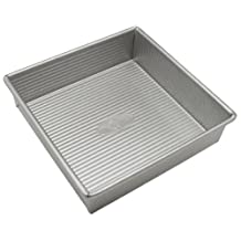 USA Pans 8-Inch Aluminized Steel Square Cake Pan with Americoat