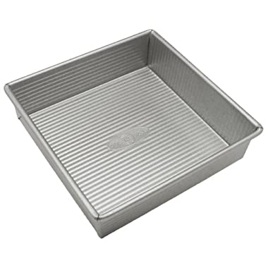 USA Pan Bakeware Aluminized Steel Square Cake Pan, 8-Inch