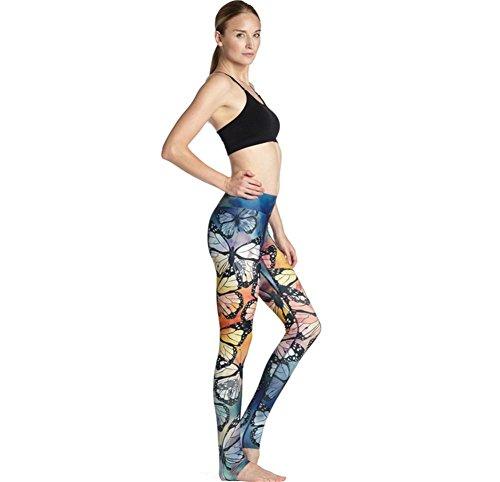 HYHAN pantalones de yoga de las señoras de la cadera delgada sudar-absorbente respirable ejercicio del estiramiento de la aptitud de las bragas 1