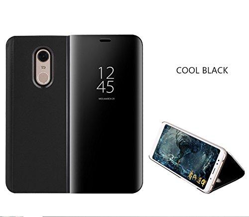 COVO® Funda para Xiaomi Mi Mix 2 Espejo Flip Case Espejo Reflexión ...