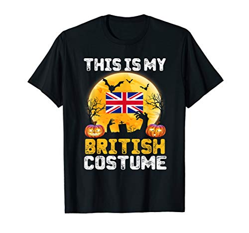 This Is My British Flag Costume Tee Halloween United Kingdom