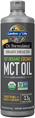 Garden of Life Dr. Formulated Brain Health 100% Organic Coconut MCT Oil 16 fl oz Unflavored, 13g MCTs, Keto & Paleo Diet Friendly Body & Brain Fuel, Certified Non-GMO Vegan & Gluten Free, Hexane-Free 3