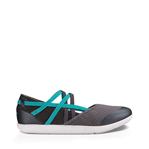 Teva Water Shoes (Teva Women's W Hydro-Life Slip-On Slipper, Granite, 8 M US)