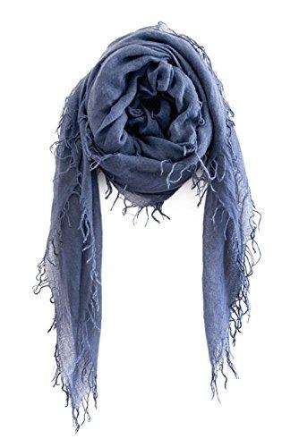 Chan LUU NEW Indigo Cashmere & Silk Soft Scarf Shawl Wrap by Chan Luu