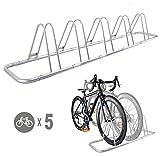 CyclingDeal 5 Bike Bicycle Floor Parking Rack Storage Stand