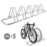 5 Bike Bicycle Floor Parking Rack Storage Stand by CyclingDeal by CyclingDeal