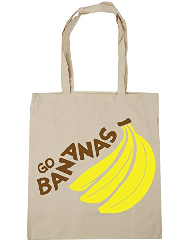 Shopping 10 x38cm Beach HippoWarehouse Gym Bag 42cm litres Tote Bananas Go Natural Zwtzq7