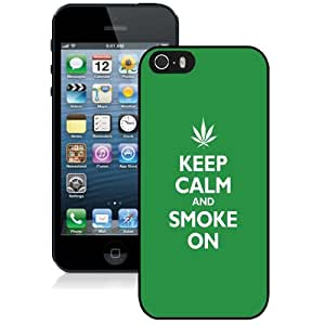 Personalized Phone Case Design with Keep Calm And Smoke On iPhone 5s Wallpaper