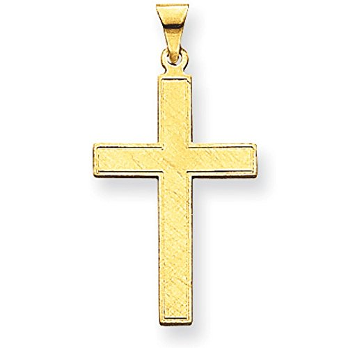 36 Mm Cross (14K Yellow Gold 18mm x 36mm Textured Cross)