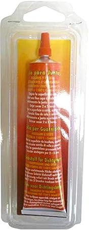 Pyro Feu 24931-12 Pegamento Refractario 1.500ºC 50 ml, Negro